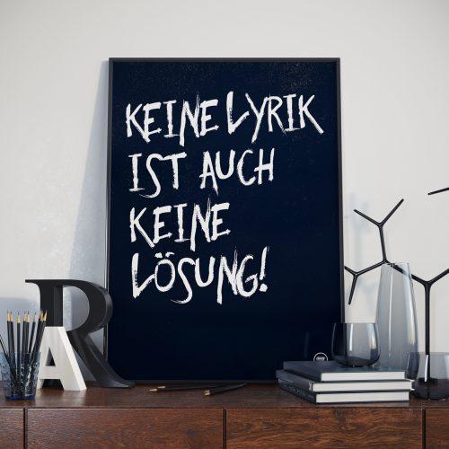 01 Poster – Keine Lyrik … – Verlagshaus Berlin