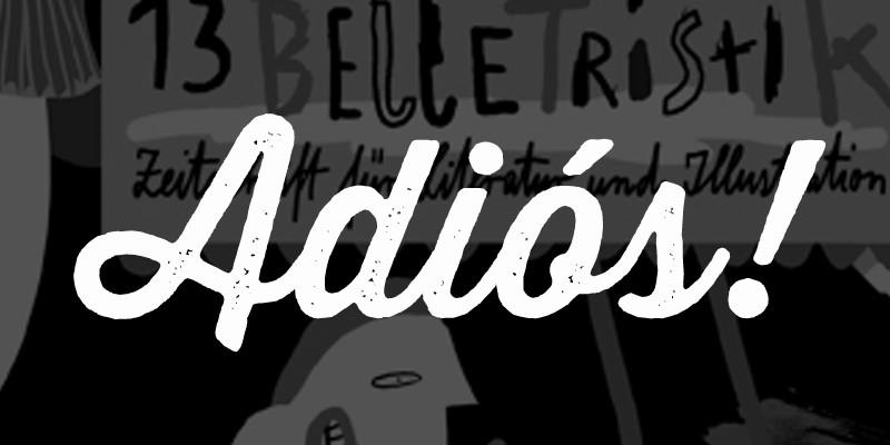 Literaturzeitschrift Belletristik Abschied